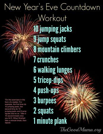 New Year S Eve Countdown Workout The Good Mama Countdown Workout New Year S Eve Countdown Holiday Workout