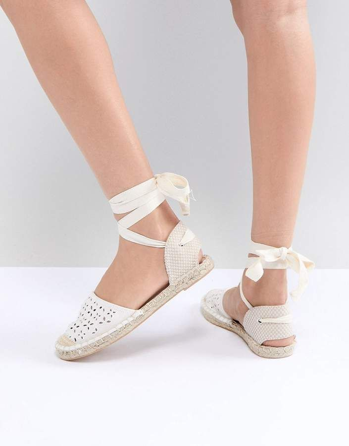 f59913c50f9 New Look Laser Cut Ankle Tie Espadrille | Beauty Style in 2019 ...