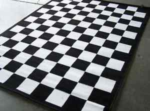 Racing Checkered Flag Outdoor Camping Rug Reversible Mat