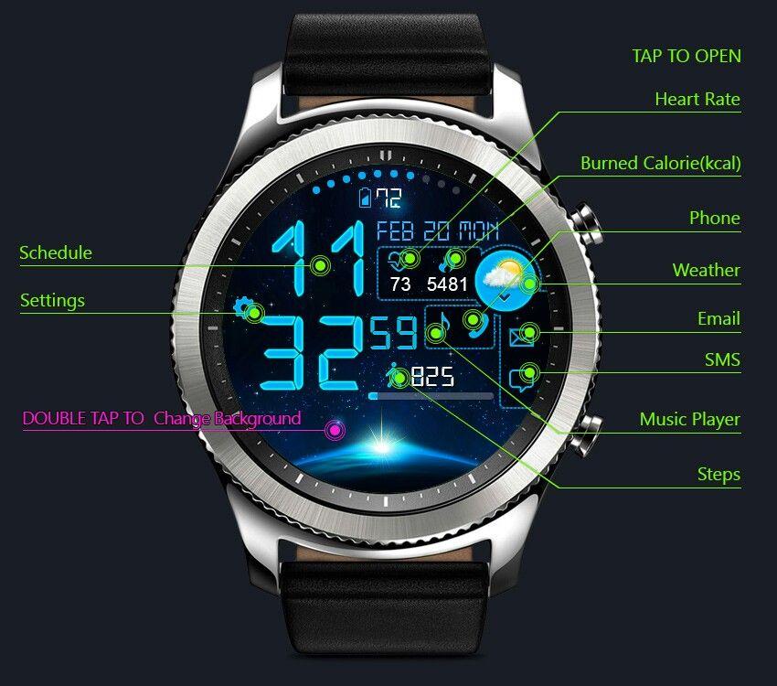 Astro Watch Face 24h interactivity Samsung watches