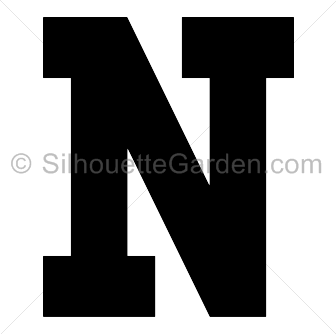 Letter N Silhouette Clip Art Download Free Versions Of The Image