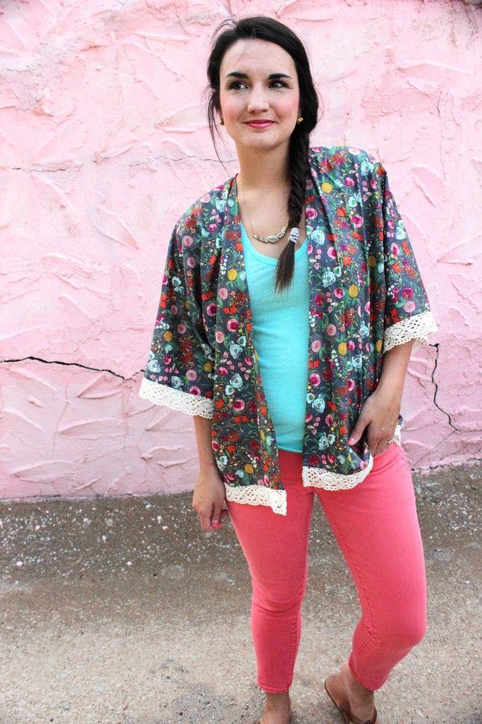 Kimono Jacket -- FREE Pattern and Tutorial -- www.SewCaroline.com ...