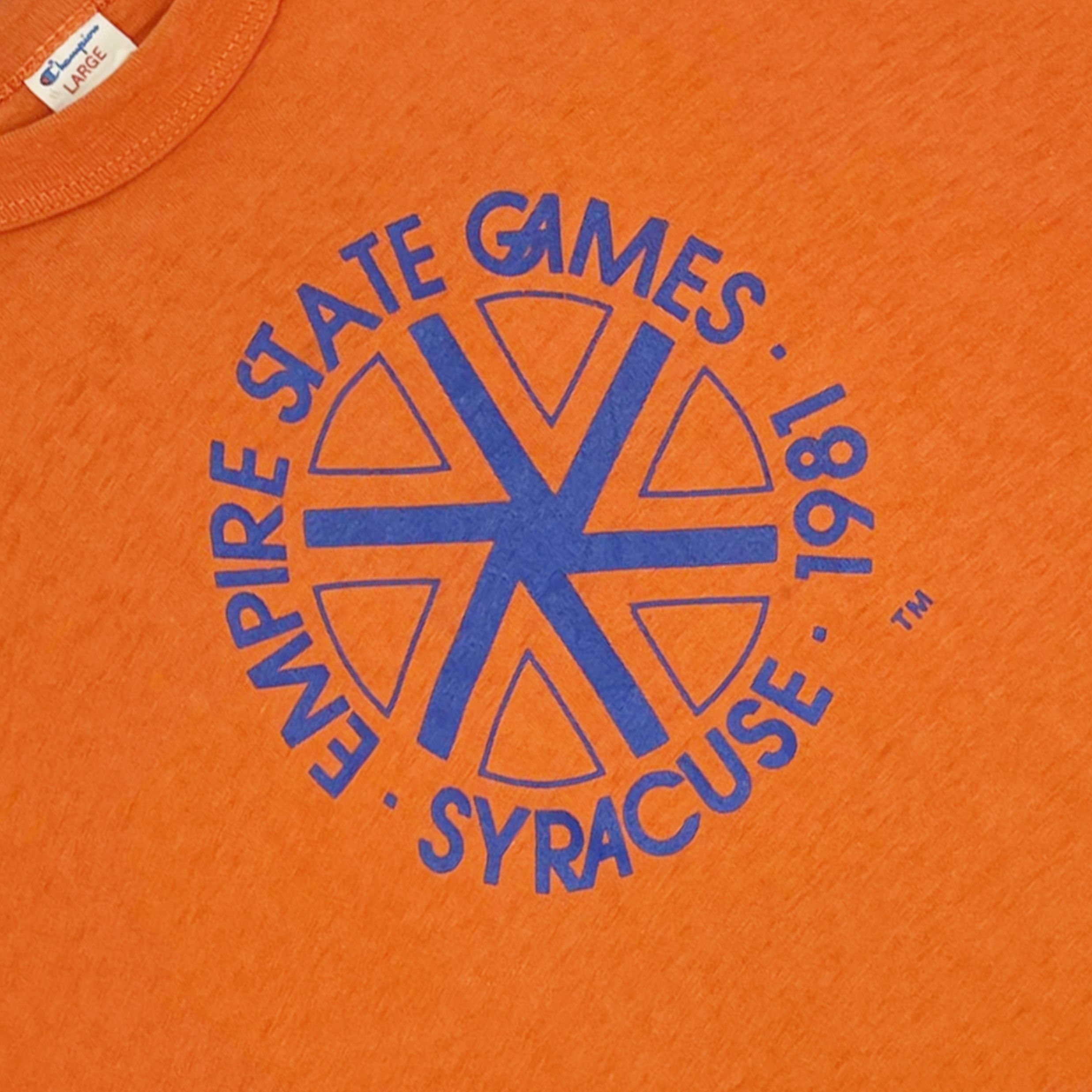 Vintage 80's Champion Syracuse Empire State Games T-Shirt ...