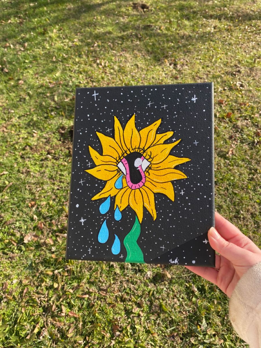 #trippy #trippyshop #psychedelic #psychedelicart #sunflower #trippysunflower #originalpainting