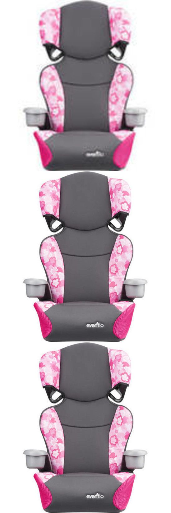 Big Kid High Back Car Booster Seat Toddler Baby Travel Chair w Cup ...