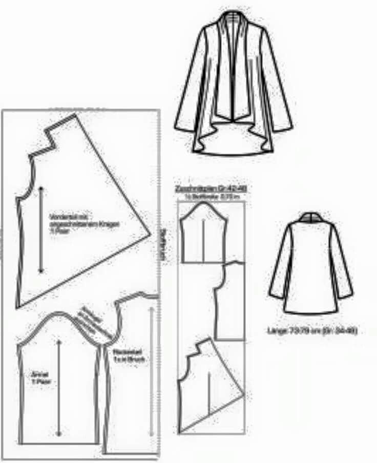 ♡ cascade | jackets I\'dliketo make ;) | Sewing patterns, Sewing ...