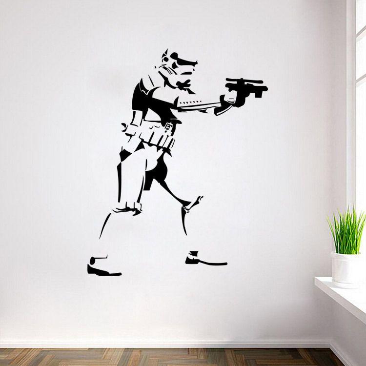 Diy Amovible Storm Trooper Star Wars Affiche Vinyle Sticker Mural