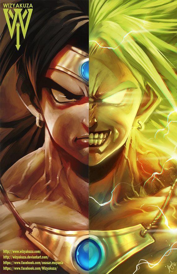 Normal And Legendary Super Saiyan Broly