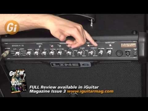 Line 6 Spider Iv 75 Watt Guitar Amp Combo Review Demo With Tom Quayle Guitar Interactive Guitar Amp Guitar Manual