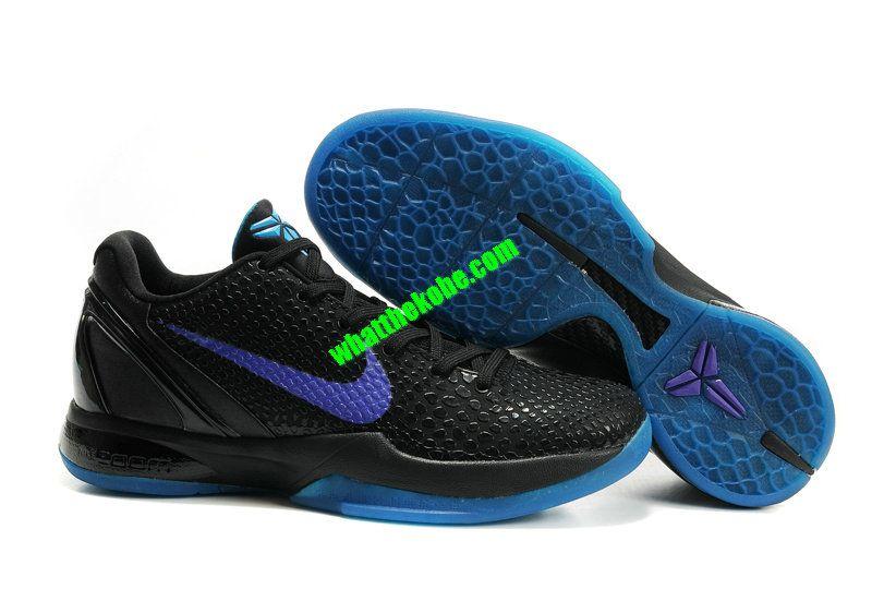 low priced e04cc dc6dd Nike Zoom Kobe VI Teaser Black Purple Blue 436311 102