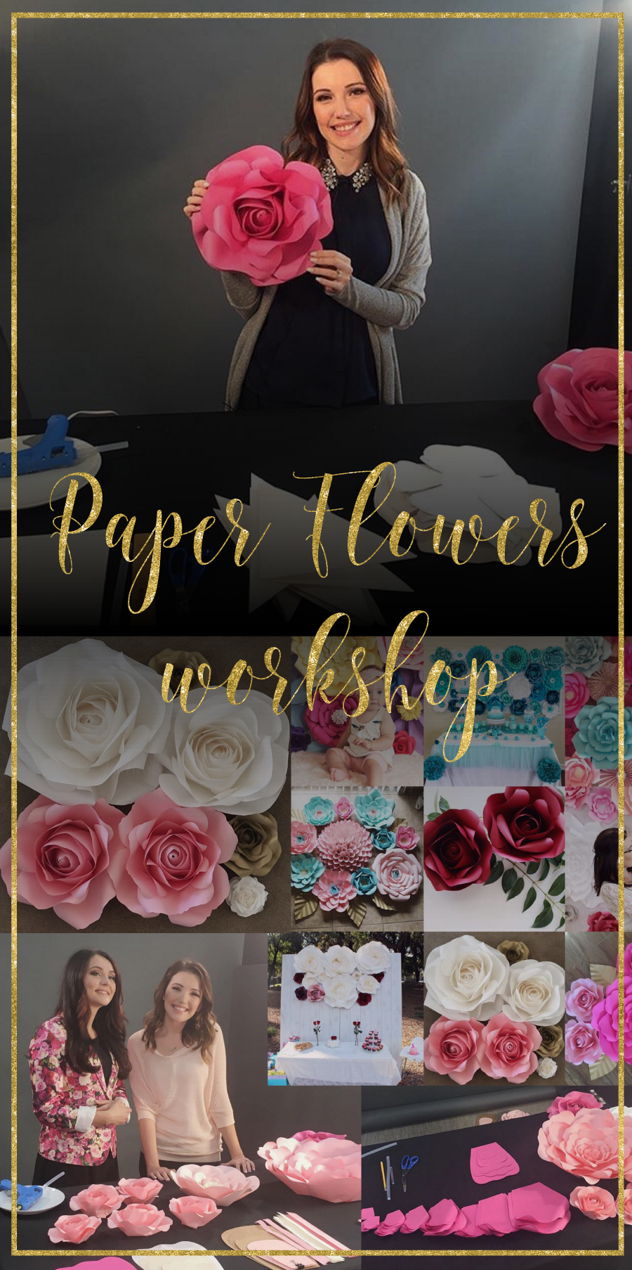 Paper flowers online workshop you will learn to make a variety flower paper flowers online workshop dhlflorist Image collections