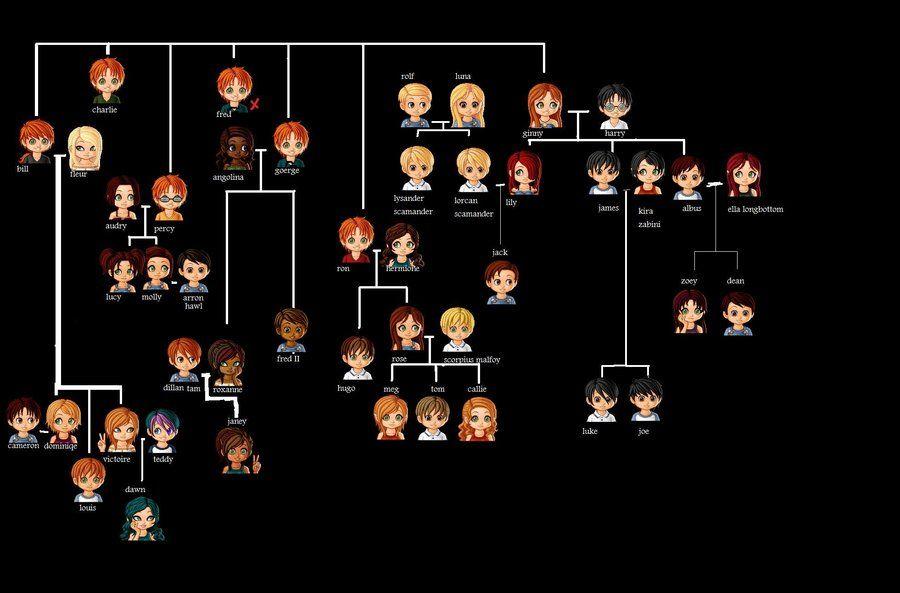 Dedicated Genealogy Program Features Harry Potter Family Tree Family Tree Book Harry Potter Next Generation