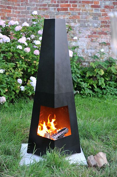 Buy Contemporary Cuba Chiminea Black Delivery By Waitrose Garden In Association With Crocus Fire Pit Chiminea