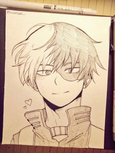 Todoroki Drawing Easy : todoroki, drawing, Shouto, Todoroki, Tumblr, Anime, Character, Drawing,, Sketch,, Drawings
