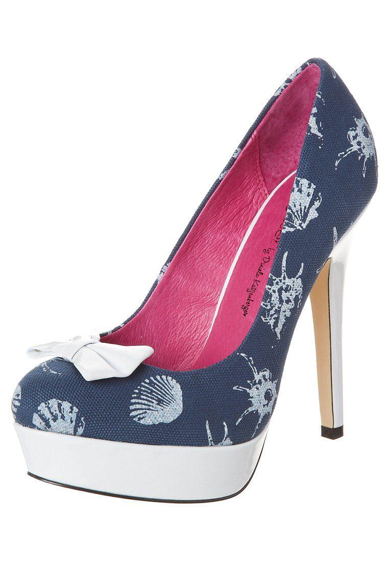 Ladystar by Daniela Katzenberger - KATHY 10 - High Heel Pumps - jeans weiß cd0c771e32