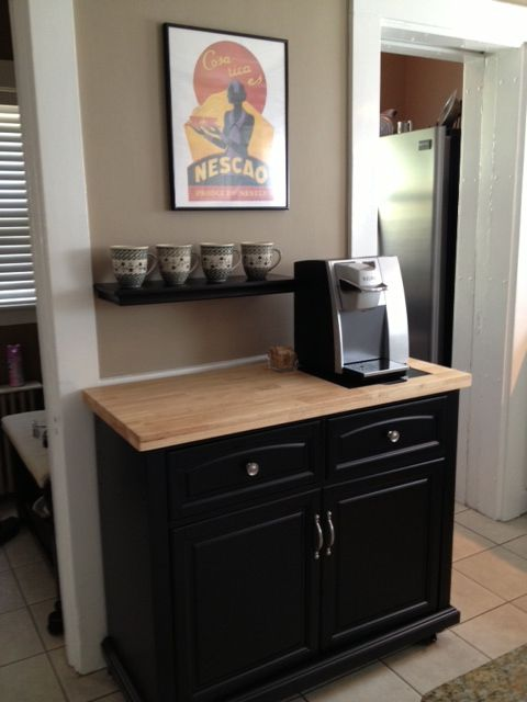 susie 39 s coffee station kitchen coffee station pinterest coffee coffee nook and kitchens. Black Bedroom Furniture Sets. Home Design Ideas