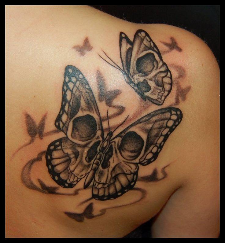 Tatuaje Calavera Significado De Tatuaje De Mariposa Tatuajes De Arte Corporal Diseno De Tatuaje De Calavera