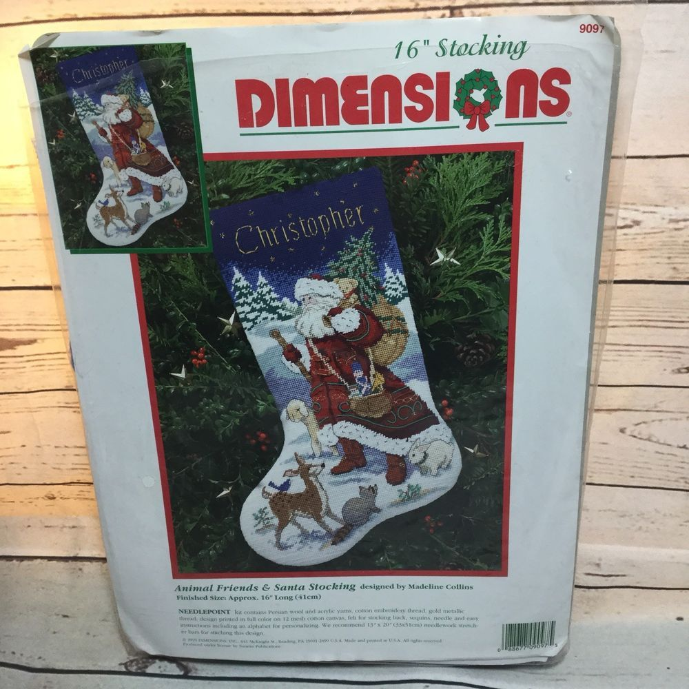 Dimensions Christmas Holiday Needlepoint Stocking Kit