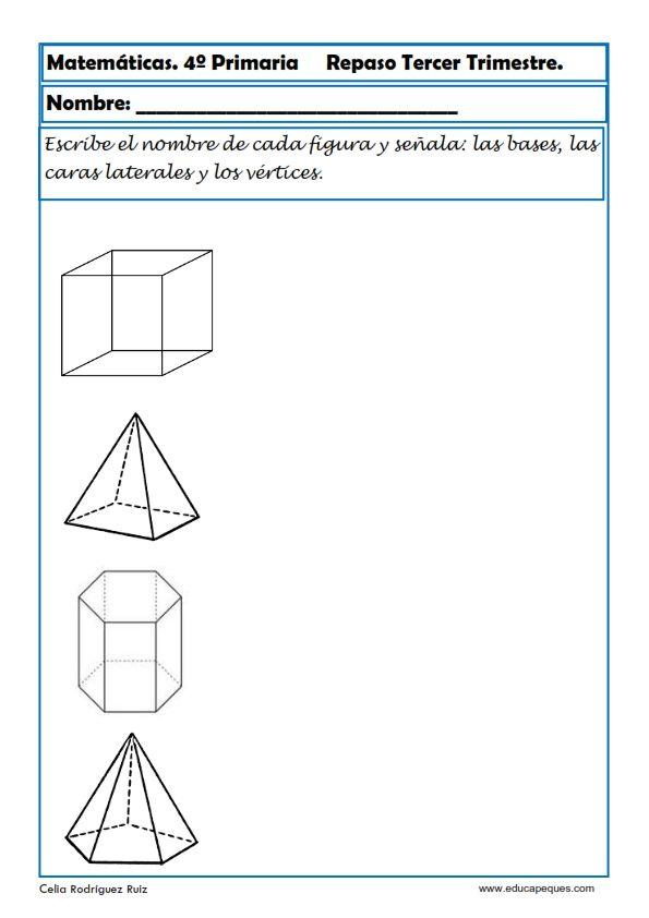 Fichas de Matemáticas Cuarto Primaria | desarrollo de la ...
