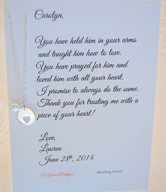 Wedding Poems For Bride And Groom: Mother Of The Groom, Mother Of Bride Gift, Mother In Law