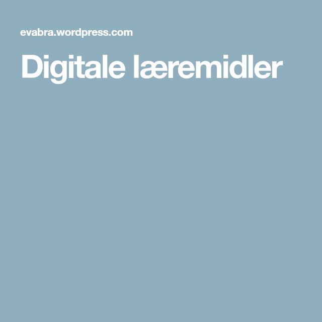 Digitale Laeremidler Utfordring