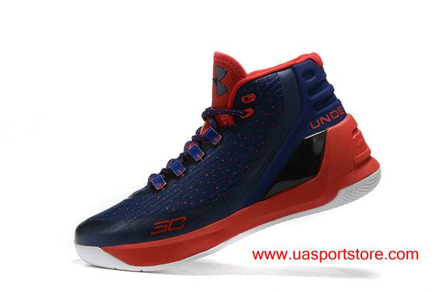 Under Armour Mens UA Curry 3 bule red Mens basketball sports shoes sneakers