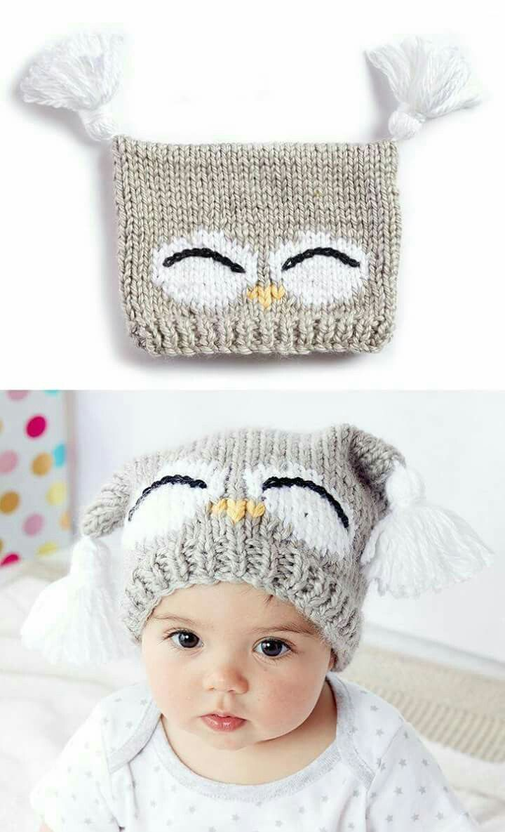 Pin by Вера on шапки | Pinterest | Crochet owls, Owl hat and Owl