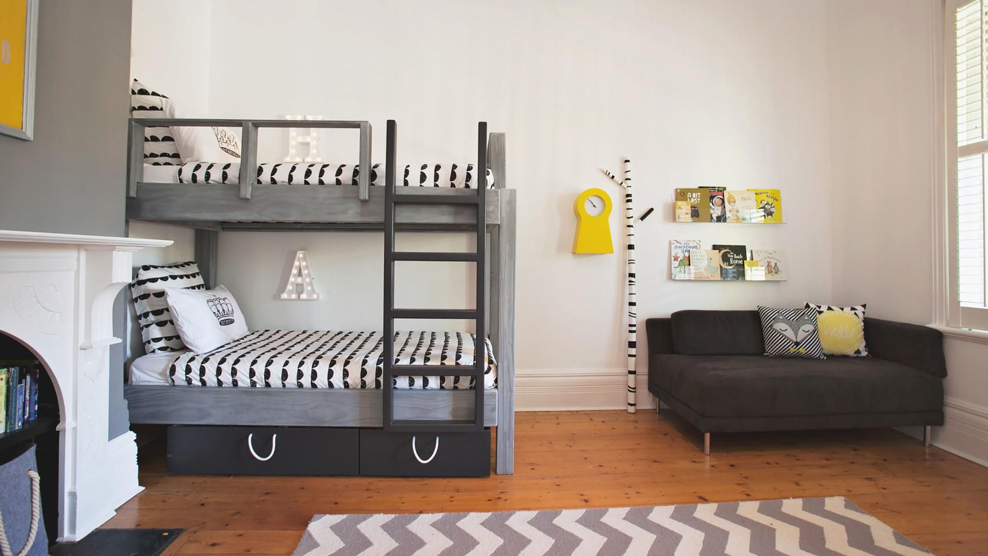 "10 shared kids' room ideas that put ""fun"" in functional"