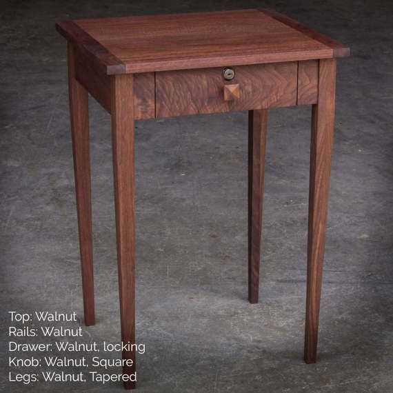17 Square Shaker Inspired Nightstand End Table By