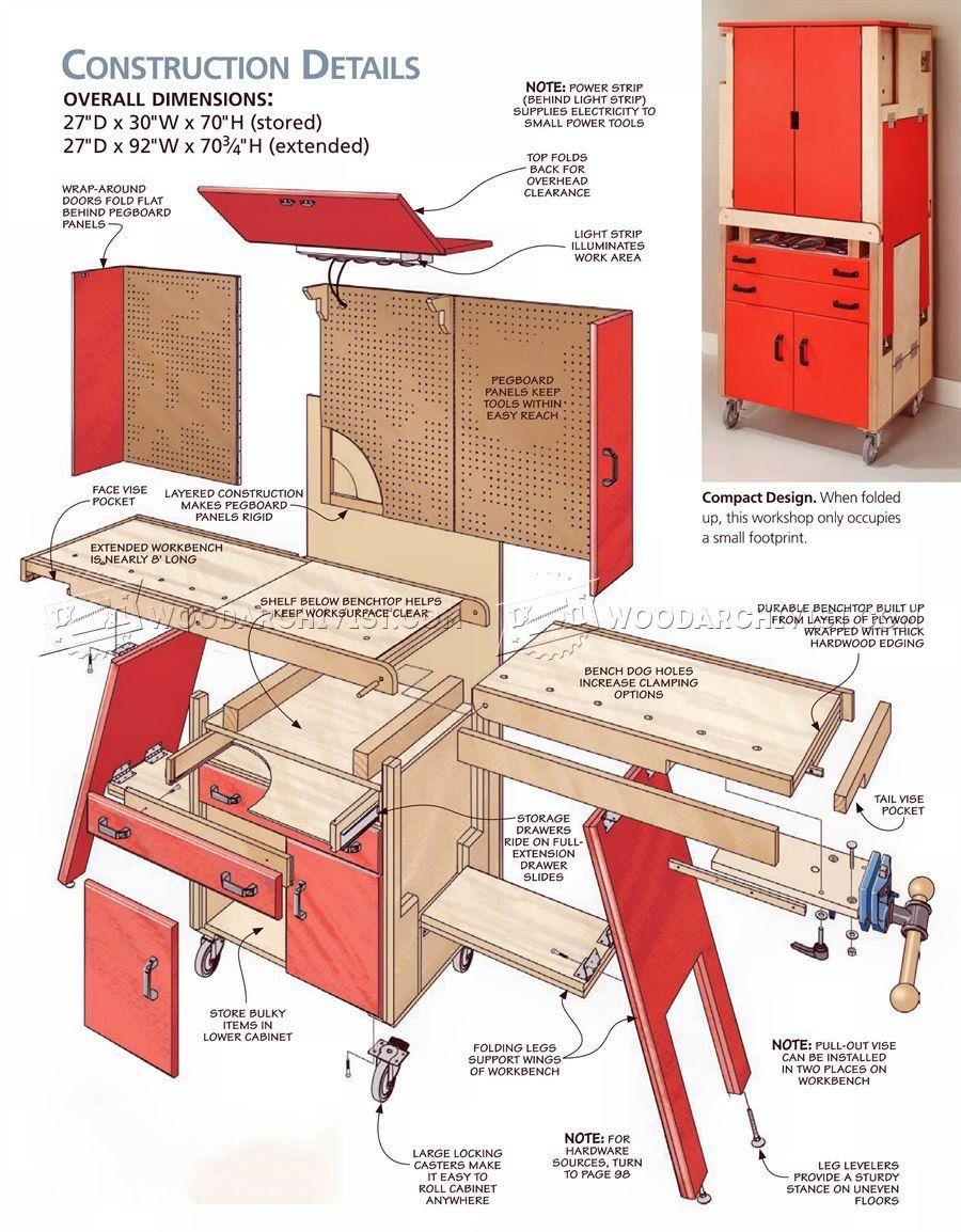 3140 Folding Workshop Plans Workshop Solutions Diy Workshop