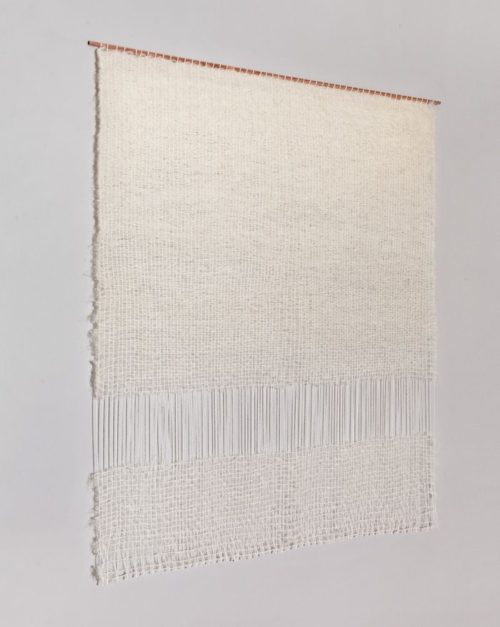 Two Floating Rectangles weaving by Mimi Jung of Brook & Lyn