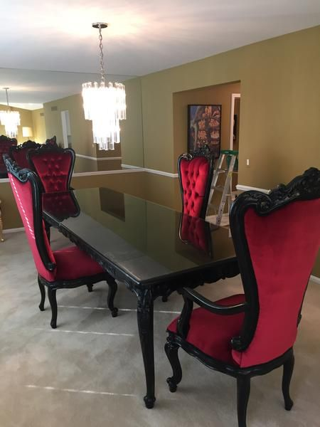Versailles 10ft Dining Table - Black - Client Photo