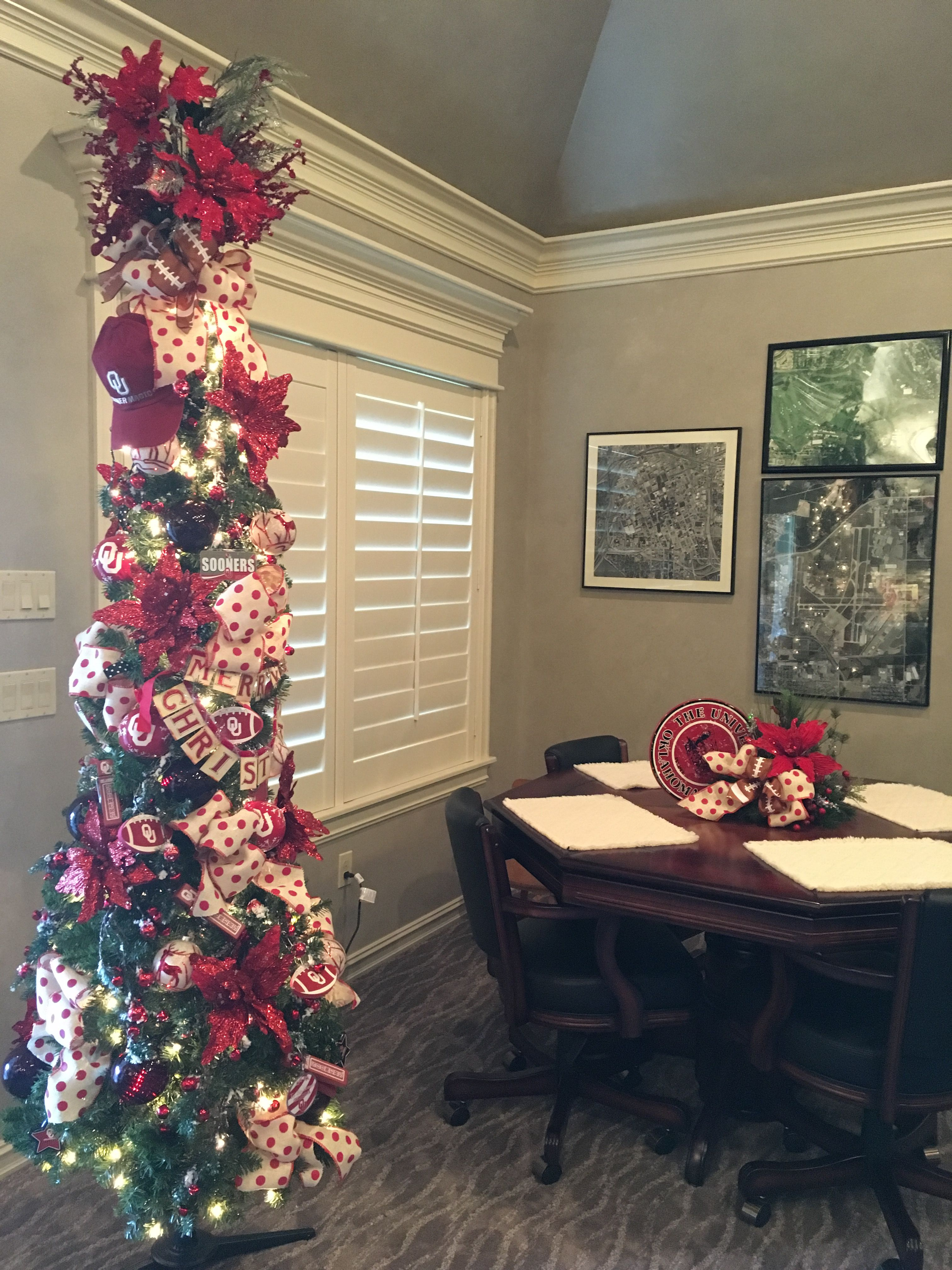 OU Game Room Christmas Tree by ME Interiors | Holiday deco