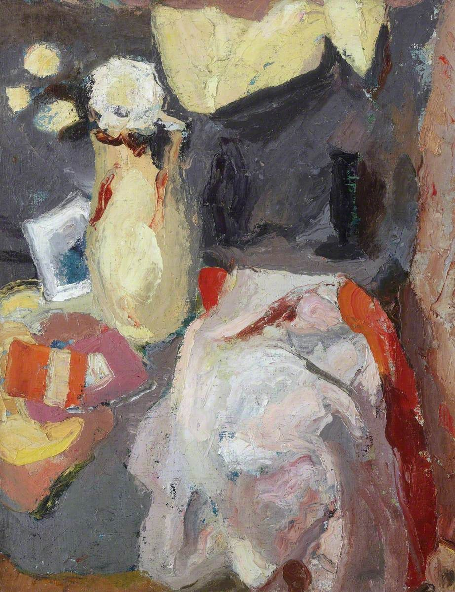 Still Life with Lemon Jug and White Flowers  William George GILLIES