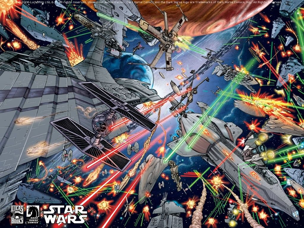 Star Wars Wallpaper Space Battle