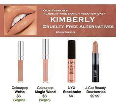 Kkw X Kylie Cosmetics Collection Kimberly Dupes Colourpop Vegan