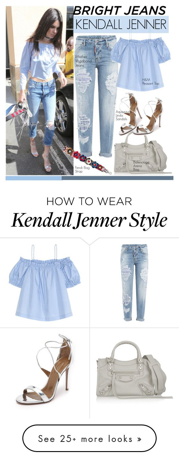 """""""Celebrity Style: Kendall Jenner"""" by eraining on Polyvore featuring Aquazzura, Dsquared2, Balenciaga, H&M, Fendi, celebstyle, kendalljenner and CelebrityStyle"""