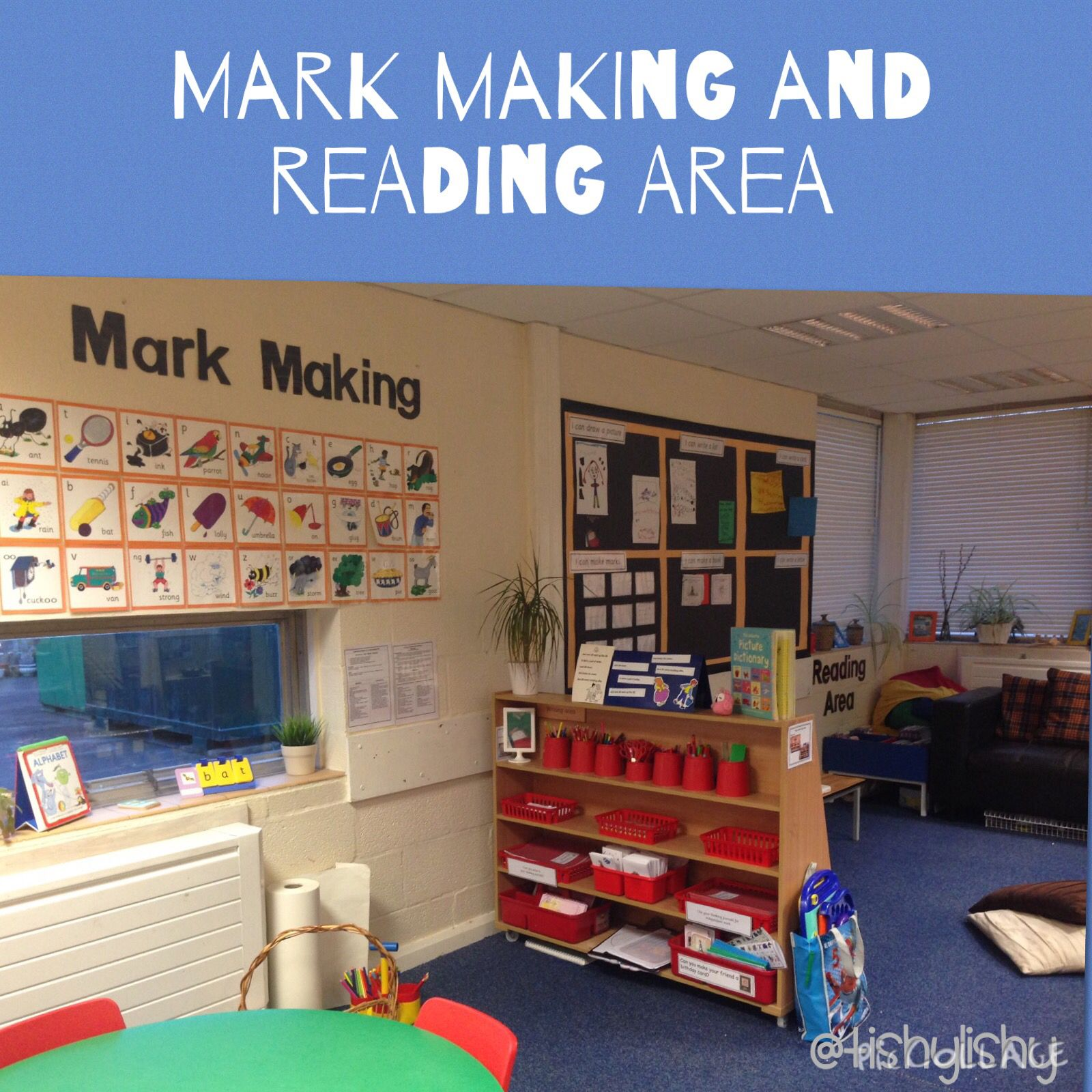 Classroom Ideas Reception ~ Reorganised mark making area early years classroom