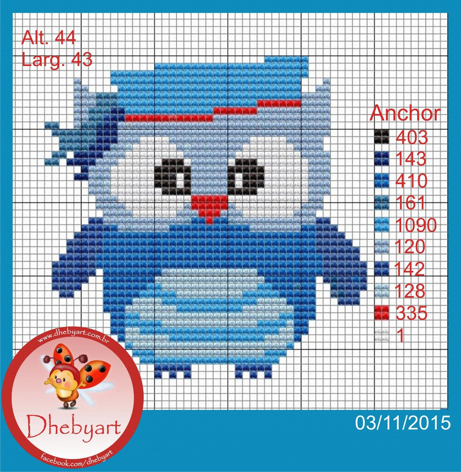 Dhebyart: Corujas Marinheiras   alfabeto   Pinterest   Eule ...