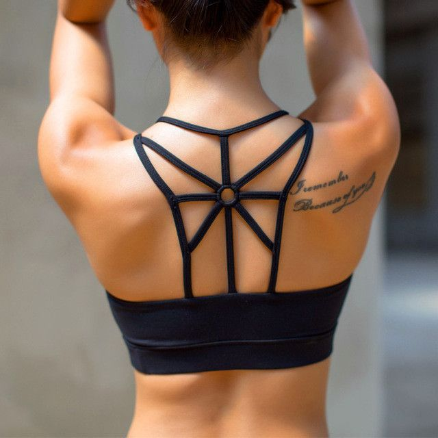 2eca70db9c Women Strappy Open-back Sport Bra Yoga Running High Strength Nylon Bra  Factory Direct Shockproof
