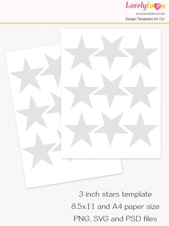 3 inch stars template collage sheet printable diy craft Lovelytocu - payment spreadsheet template