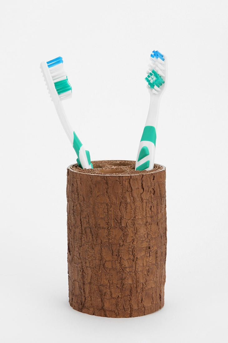 Tree Trunk Toothbrush Holder Tree Trunk Toothbrush