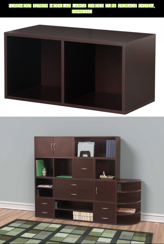 Superbe Foremost 327809 Modular Large Divided Cube Storage System, Espresso #kit  #camera #shopping