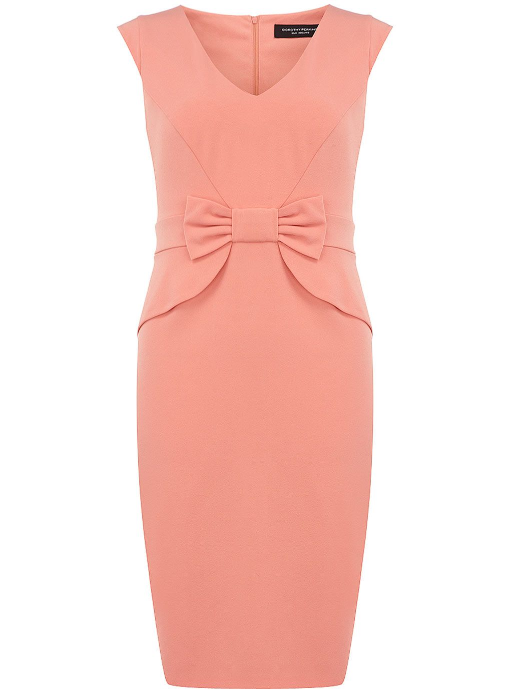 cb6f9e585bf Robe corail style Milly avec nœud - Voir tout - Robes - Dorothy Perkins  France