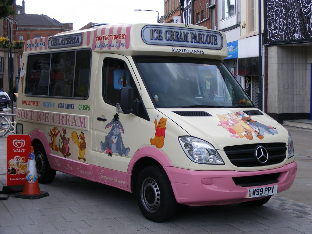 Ice Cream Van Mercedes W99PPY Derby
