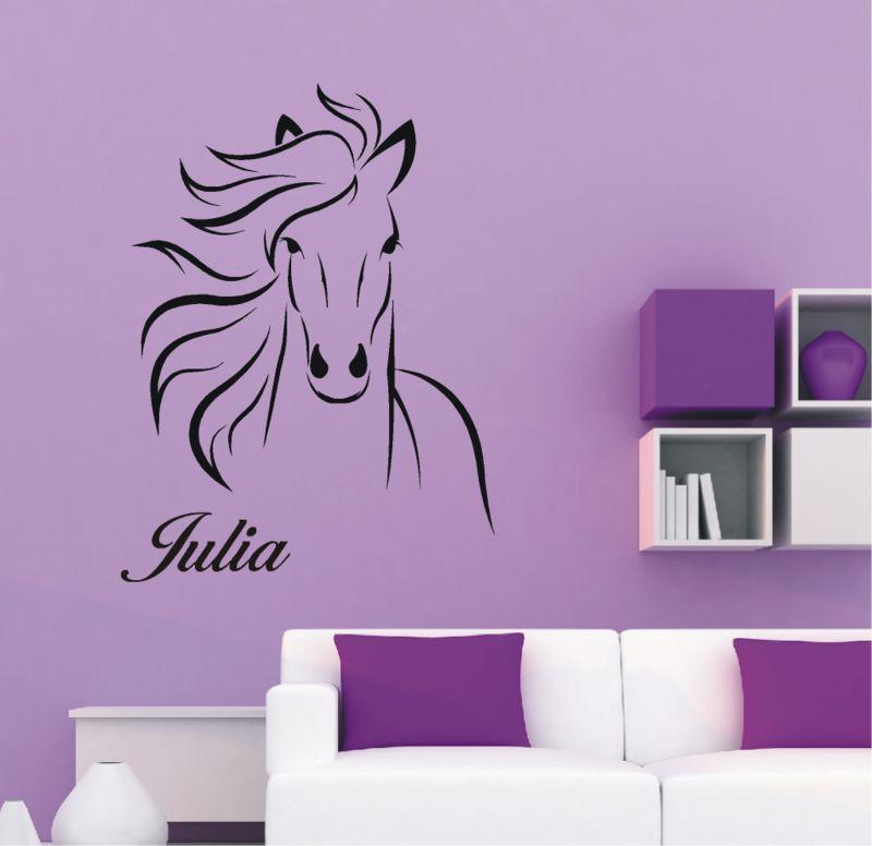 Muursticker Paard Met Naam.Paard Met Naam Sticker Nikki Kamer Salon Interieur