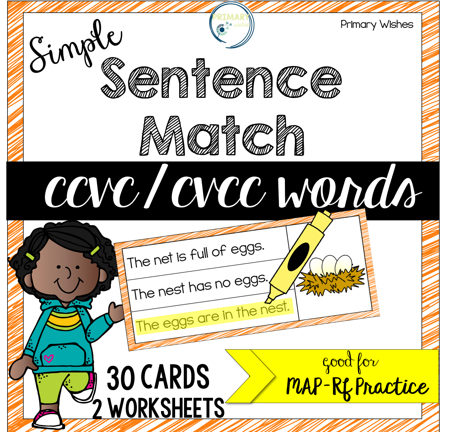 Simple Sentence Match Ccvc Cvcc