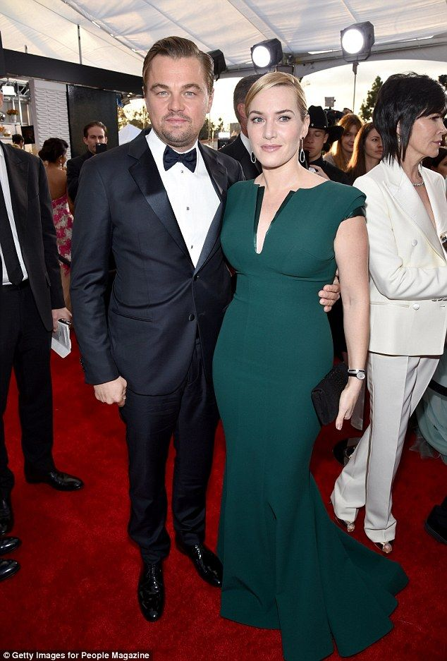 Leonardo dicaprio and Kate winslet both wore Armani at the Screen Actors Guild Awards