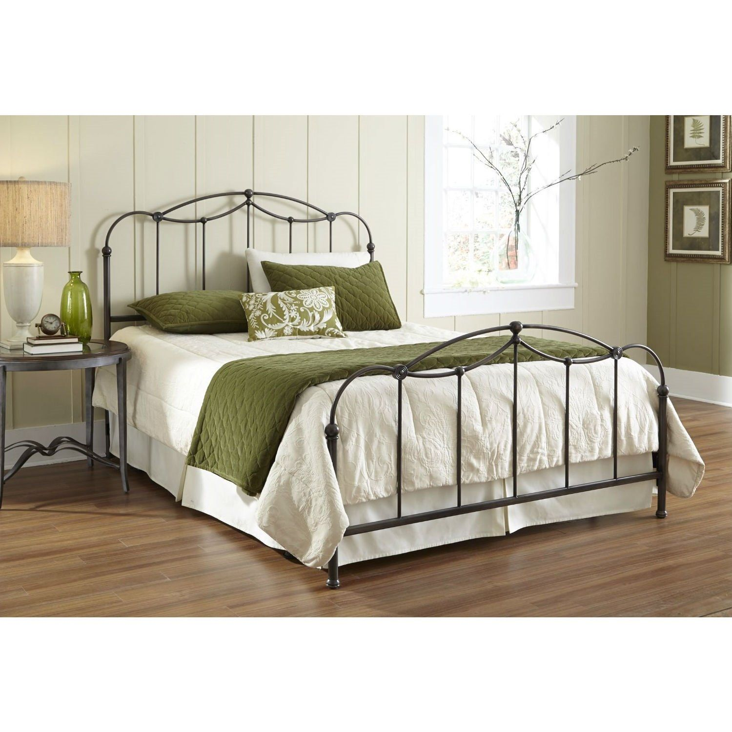 Queen Size Metal Bed Frame With Headboard And Footboard