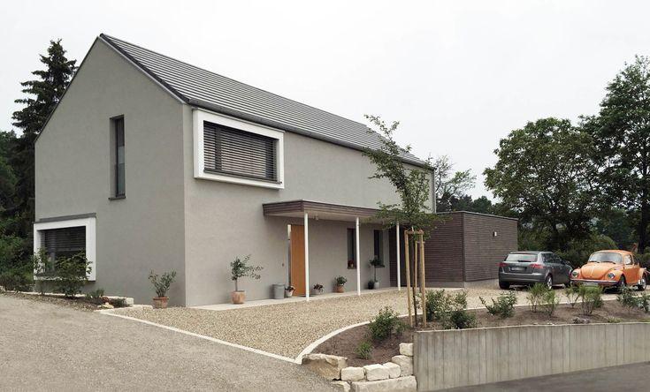 Architektur Haus Freistehendes Modernes Haus Mit Satteldach Architektur Haus Satteldach Modern Fassade Haus Satteldach